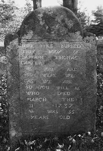 An unusual epitaph