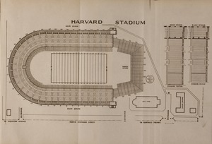 Blue book of Newton ... containing lists of the leading residents, societies, etc. with street directory and new map. - Harvard Stadium Map