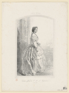 S. M. L'Impératrice Eugénie. Costume officiel du 2 janvier 1855