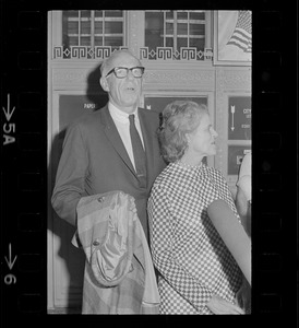 Dr. Benjamin Spock and Jane Spock after he was found guilty in Boston Five trial