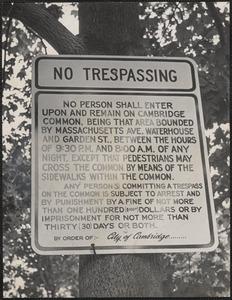 Cambridge Common ban