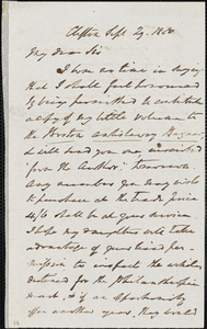 Letter from E. Waring, Clifton, [England], to John Bishop Estlin, 1850 Sept[ember] 29
