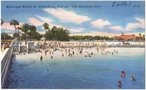 Municipal beach, St. Petersburg, Florida, the sunshine city