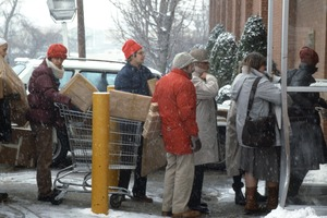 UPS line to send Christmas presents, Watertown