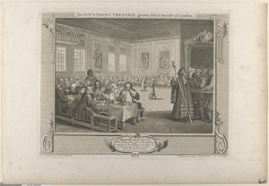 Pl. 8. The industrious 'prentice grown rich and Sheriff of London