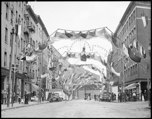 North End street decorated for All Saints Day