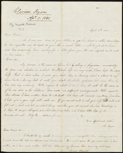 Letter from Clarissa Tryon, [Farminton], to Amos Augustus Phelps, Charlotte Phelps, and Edward Phelps, April 5th 1841