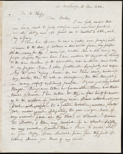 Letter from Samuel H. Fletcher, So. Northbridge, to Amos Augustus Phelps, 15 Jan. 1834