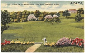 Cliff Country Club, 5th Fairway and Club House, Ogunquit, Maine