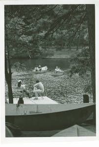 Rowing boats at Freshman Camp (1970)