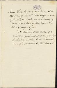 James Kirke Paulding autograph document