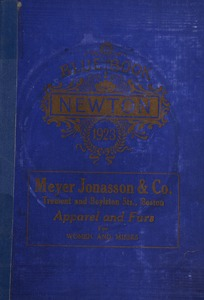 Blue book of Newton ... containing lists of the leading residents, societies, etc. with street directory and new map.