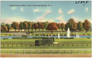 Infield pond at race track, Saratoga Springs, N. Y