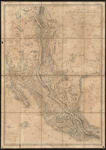 Carte générale du royaume de la Nouvelle Espagne depuis le parallèle de 16° jusqu'au parallèle de 38° (latitude nord)