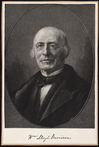 Head and shoulders portrait of William Lloyd Garrison, facing left