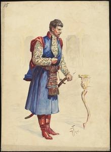 Unidentified Italian opera costume design plate 15