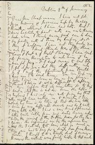 Letter from Richard Davis Webb, Dublin, [Ireland], to Maria Weston Chapman, 9th of January 1852