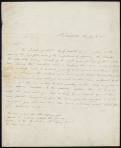 Letter from Philadelphia, [Pa.], to William Lloyd Garrison, November 3'd, 1831