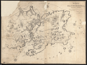 Map of Gloucester, Cape Ann Showing the roads, harbours, rivers, coves, islands & ledges, surrounding that important cape, with directions for entering the harbours