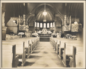 Church nave and pews