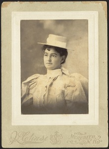 Newton photographs. Newton, MA. Edith B. Holway (Mrs. Lewis Speare)