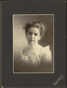 Newton photographs. Newton, MA. Portrait of a woman