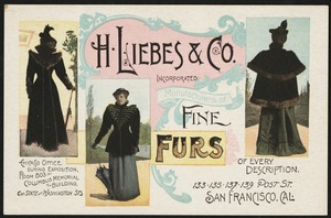 H. Liebes & Co. incorporated, manufacturers of fine furs of every description.