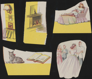 Paper cutouts from paper doll book