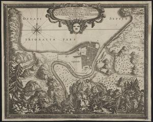 Ichnographia urbis Nidrosiae vulgo Dronheem in Norwegia eo statu, quo S.R.M. Sueciae vi pacis Rothschildica initae à Ser. Rege Daniae tradebatur anno 1658