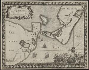 Ichnographia delineatio Corsorae et locorum illi adiacentium maximè Castelli novi à Rege Sueciae ad portum defendendum extructi ao. 1659