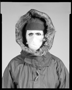 CEMEL- clothing, cold weather, headgear, w/mask + parka hood