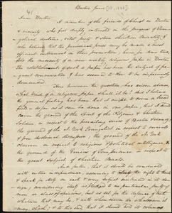 Letter from Amos Augustus Phelps, Boston, June [13, 1833]