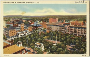 Hemming Park in downtown Jacksonville, Fla