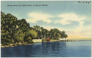 Docks along the Indian River, at Cocoa, Florida