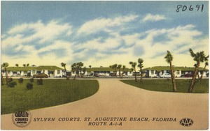 Sylven Courts, St. Augustine Beach, Florida, Route A1A