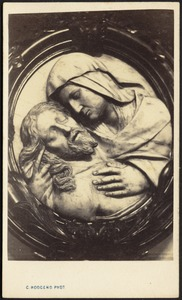 Pietà (bas-relief) in oval frame