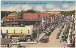 H-17 Garnett Street, looking south, Henderson, N. C