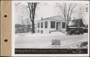 Massachusetts Congregational Conference Missionary Society, chapel, Enfield, Mass., Feb. 19, 1930 Parcel no. 269-21, Massachusetts Congregational Conference and Missionary Society