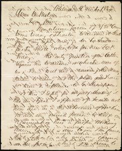 Letter from Edward Morris Davis, Philad[elphia], [Penn.], to Anne Warren Weston, 9 mo[nth] 1 [day] 1853