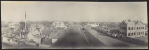 Streets, canal and temporary U.S. Legation (on left)