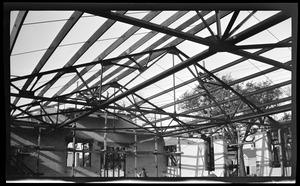 Steel frame from Yerxa Garage