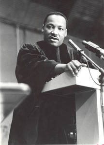 Photograph of Martin Luther King, Jr. at Commencement (June 14, 1964)