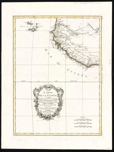Carte de la Guinée: contenant les Isles du Cap Verd, le Senegal, la Côte de Guinée proprement dite, les Royaumes de Loango, Congo, Angola et Benguela, avec les pays voisins autant qu'ils sont connus