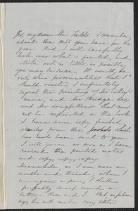 Sophia Hawthorne autograph letter signed to James Thomas Fields, [Concord], 27 July 1866