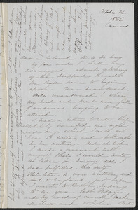 Sophia Hawthorne autograph letter signed to Annie Adams Fields, [Concord], 1 October 1866