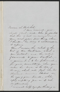 Sophia Hawthorne autograph letter signed to [James Thomas Fields, Concord], 28 October [18]66