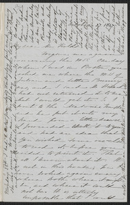 Sophia Hawthorne autograph letter signed to James Thomas Fields, [Concord], 27 October 1867
