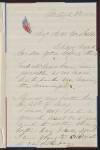 Rose Hawthorne Lathrop autograph letter signed to Annie Adams Fields, [Concord], 20 May 1862