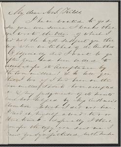 Elizabeth Palmer Peabody autograph letter signed to Annie Adams Fields, 24 [December 1863]