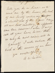 Letter from Anne Warren Weston to Miss Gould
